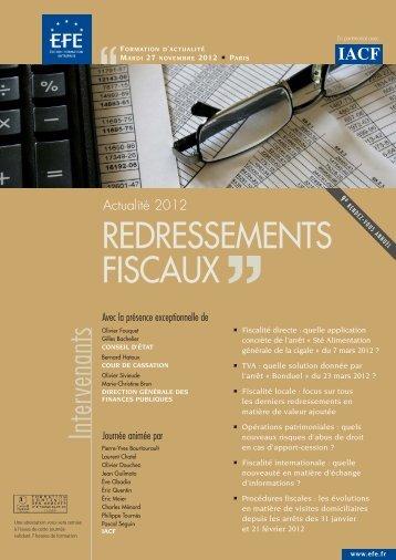 REDRESSEMENTS FISCAUX - Efe