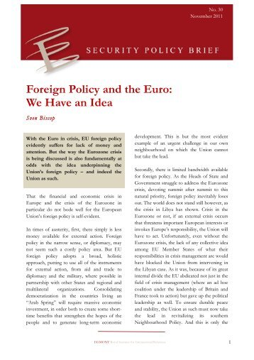 Foreign Policy and the Euro: We Have an Idea - Egmont