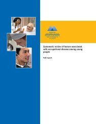 Systematic review of factors associated with occupational disease ...