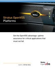 Read the brochure (PDF) - Stratus Technologies