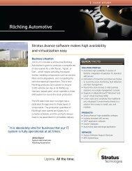 Röchling Automotive - Stratus Technologies