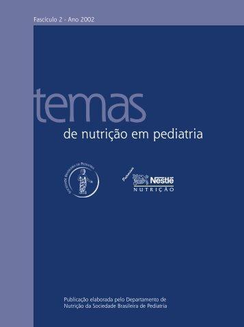 de nutrição em pediatria - Sociedade Brasileira de Pediatria