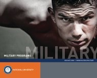 2013 Military Brochure - National University