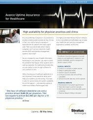 Avance Uptime Assurance for Healthcare - Stratus Technologies
