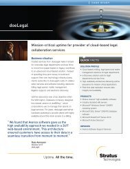 doeLegal - Stratus Technologies
