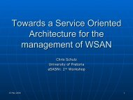 Towards a Service Oriented Architecture for the management of WSAN
