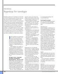 Regnskap for tannleger - Den norske tannlegeforenings Tidende