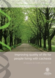 Improving quality of life for people living with cachexia - CareSearch