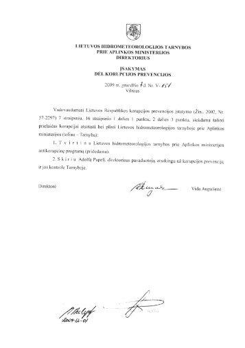 _ Ä®SAKYMAS DEL KoRUPClJos PREVENCIJos - Lietuvos ...