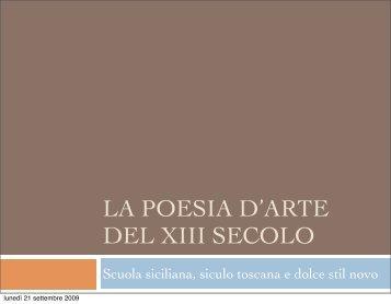 La poesia d'arte del XIII secolo