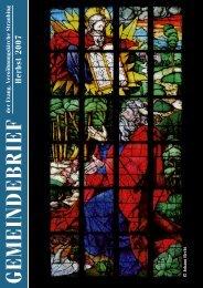 GEMEINDEBRIEF - Evangelische Versöhnungskirche Straubing