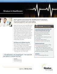 Stratus in Healthcare - Stratus Technologies