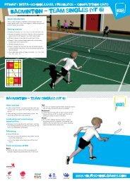 badminton - team singles (yr 6) - School Games