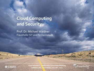 Cloud Computing And Security - Security in Information Technology