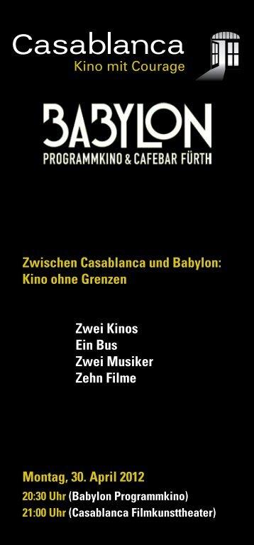 Zwischen Casablanca und Babylon: Kino ohne Grenzen Zwei Kinos ...