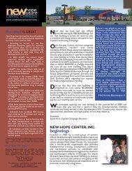 CFC Newsletter Vol. 4 - New Hope Center