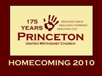 HOMECOMING 2010 - Princeton United Methodist