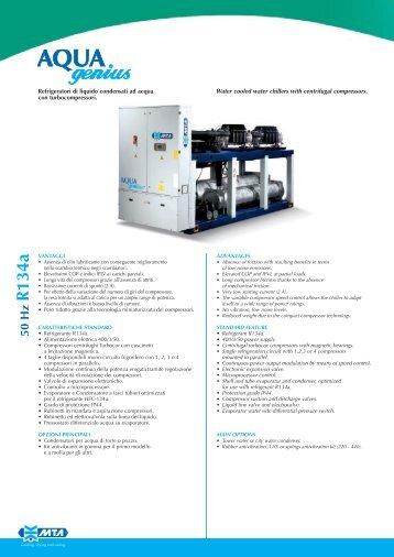 Refrigeratori di liquido condensati ad acqua con turbocompressori ...