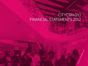 with this link. - Citycon's Annual Report 2012