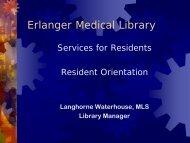Erlanger Medical Library