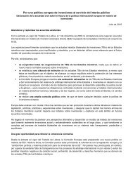 Draft statement on the future of Europe's approach to international ...