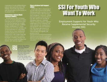 SSI For Youth Who Want To Work - Alabama Disabilities Advocacy ...