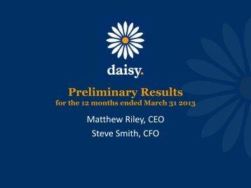 Presentation to - Daisy Group plc