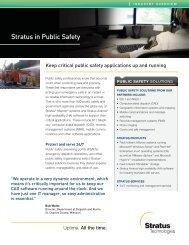 Stratus in Public Safety - Stratus Technologies