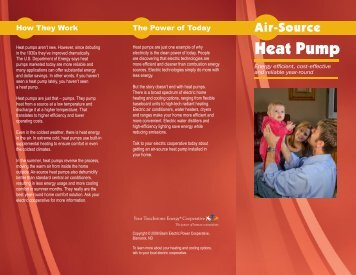 Air source heat pump brochure. - Dakota Energy Cooperative, Inc.