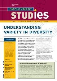 Employment Studies no. 3 - The Institute for Employment Studies