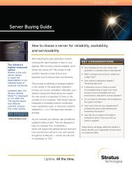 Server Buying Guide - Stratus Technologies