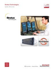 What Does Stratus Technologies do for Rockwell Automation ...