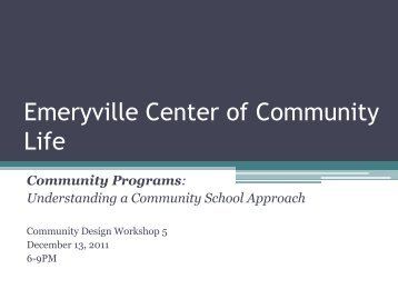 Emery Unified School District - Emeryville Center of Community Life
