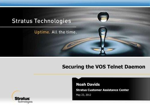 Securing the VOS Telnet Daemon