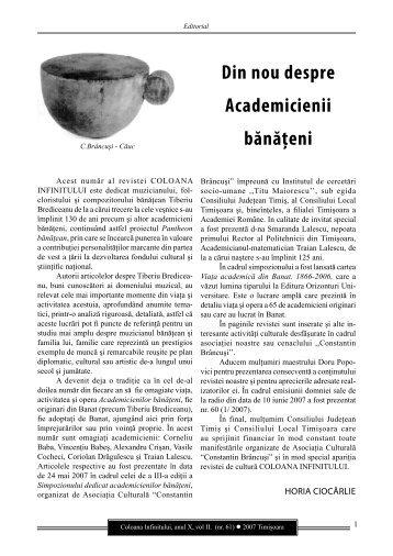 Revista Coloana Infinitului nr. 61 - Brancusi