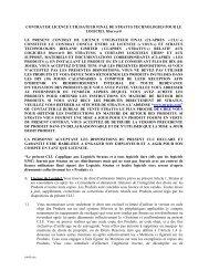CONTRAT DE LICENCE UTILISATEUR FINAL DE STRATUS ...