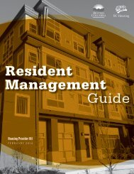 download the entire Resident Management Guide. - BC Housing