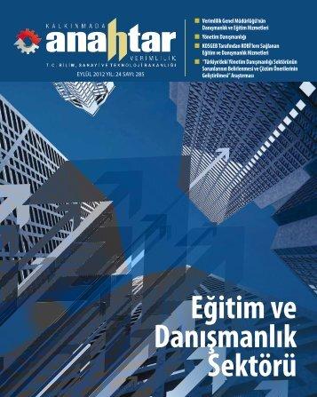 Eylül 2012 Sayı:285 - Verimlilik Genel Müdürlüğü - Bilim, Sanayi ve ...