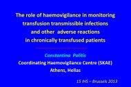 Διαφάνεια 1 - International Haemovigilance Network