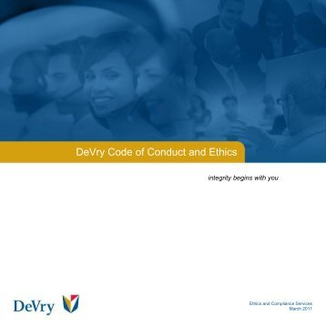 DeVry Code of Conduct and Ethics - DeVry Inc.