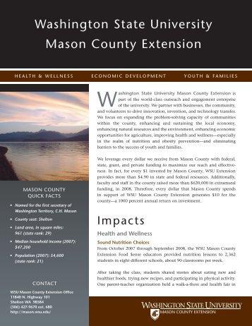 Washington state university Mason County extension - WSU Extension
