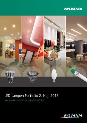 Broschüre LED Lampen Portfolio 2. Hbj. 2013 - Sylvania Lichtklick