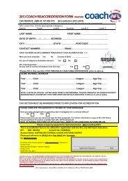 Coach Re-accreditation Form - Essendon District Football League