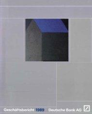 Geschäftsbericht für das Jahr 1989 Deutsche Bank AG