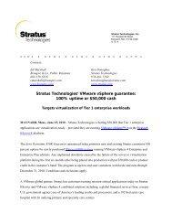 Stratus Technologies' VMware vSphere guarantee: 100% uptime or ...
