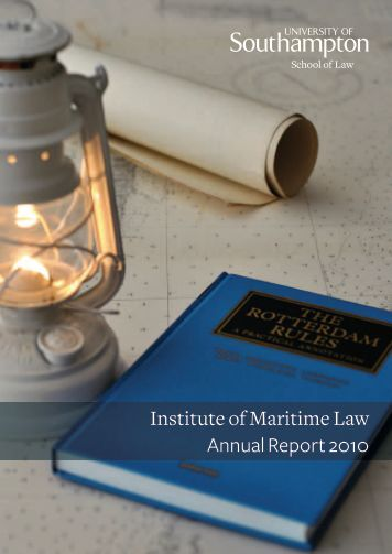 Institute of Maritime Law Annual Report 2010 - Study in the UK