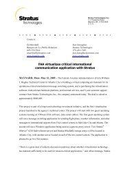 FAA virtualizes critical international communication application with ...