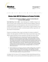 Stratus Adds INETCO Software Stratus Adds INETCO Software to ...