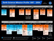 Earth Science Mission Profile 1997 - NASA's Earth Observing System