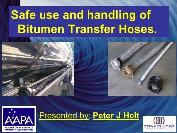 Bitumen Transfer Hose - Aapaq.org